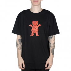 Camiseta Grizzly Flamming Bear Preta