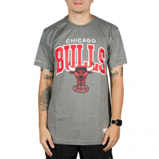 Camiseta Mitchell & Ness Chicago Bulls Mescla Cinza