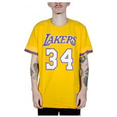 Camiseta Mitchell & Ness Los Angeles Lakers O'Neal Amarela