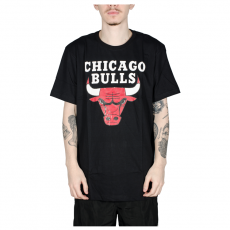 Camiseta NBA Chicago Bulls Big Logo Preta