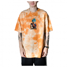 Camiseta Primitive x Dragon Ball Z Shadow Goku Washed II Tie Dye