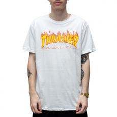 Camiseta Thrasher Flame Branca Big