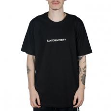 Camiseta Via SantoSkateCity Preta