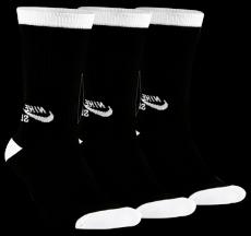 Meia Nike Sb Media Preto/ Branco - Kit  (3 pares)