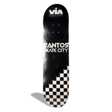 Shape de Skate Street Marfim Via Skate Shop Premium Santos Skate City Checker