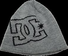 Touca DC Double List (2 LADOS - Interno e Externo) Cinza com Logo Traçado Preto