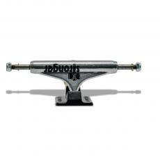 Truck para Skate Stronger 139mm Mid Silver com Base Preta