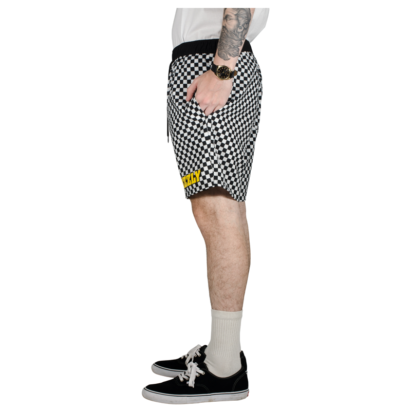 Bermuda Grizzly Finish Line Swimshorts Checkerboard