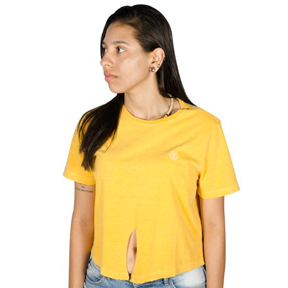 Blusa Element Modern Logo Amarela