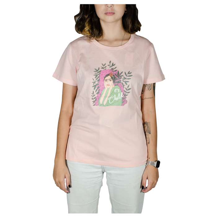 Blusa feminina child Frida Rosa 81141056