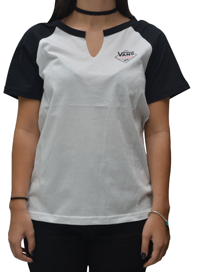 Blusa Vans Side Stripe Heather Branca / Preta