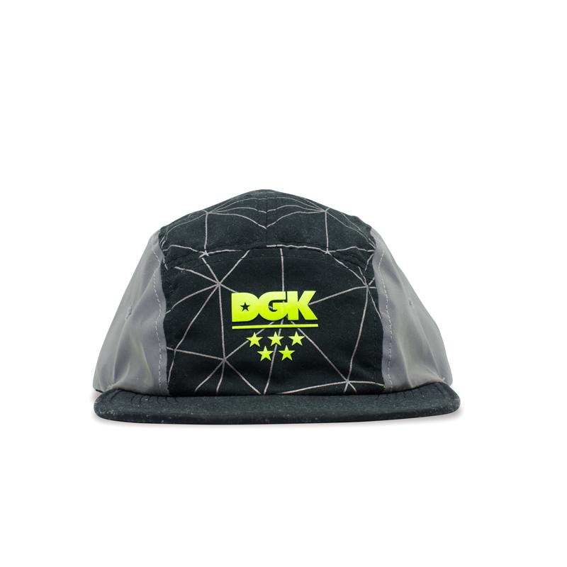 Boné 5 Panel DGK Framework Camper Preto HEH-1100