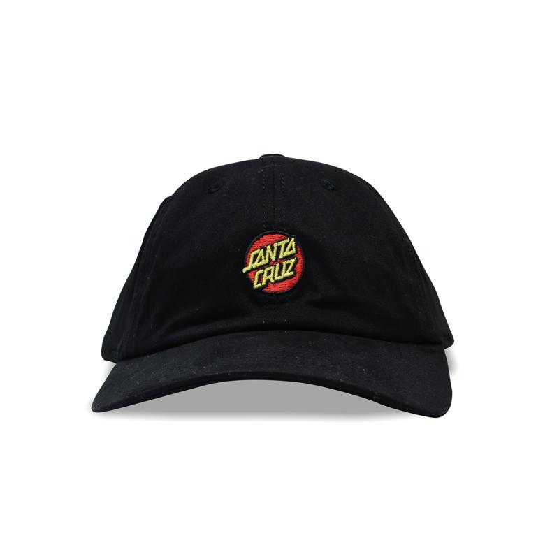 Boné Dad Hat Santa Cruz Classic Dot Preto