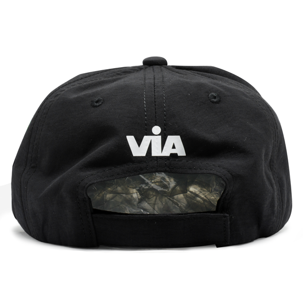 Boné Dad Hat Via Caveirinha UV Preto