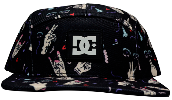 Boné DC Break The Rulez Full Print / Preto