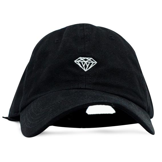 Boné Diamond Aba Curva Micro Brilliant Preto