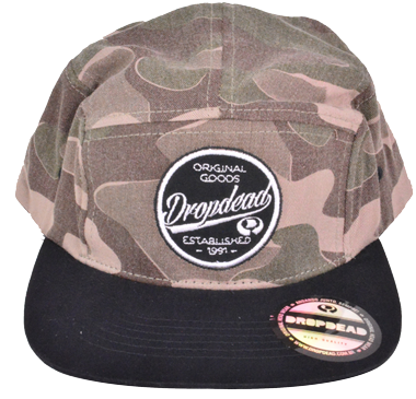 Boné Five Panel Drop Dead Camuflado
