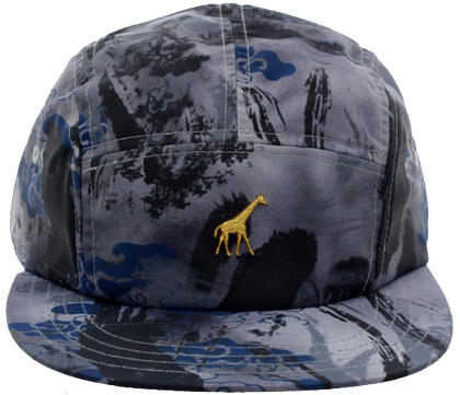 Boné Five Panel LRG M RSCH + DSRTY Camuflado Cinza