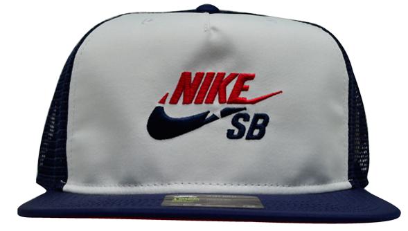 Boné Nike Sb Cap Trucker Azul Marinho / Branco