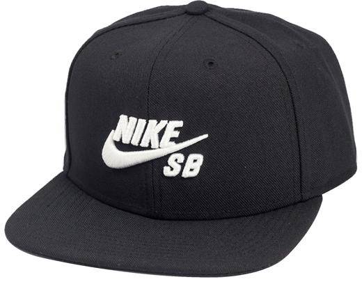 Boné Snapback Nike Sb Preto com Logo Branco