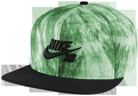 Boné Snapback Nike Sb Tie Dye Verde