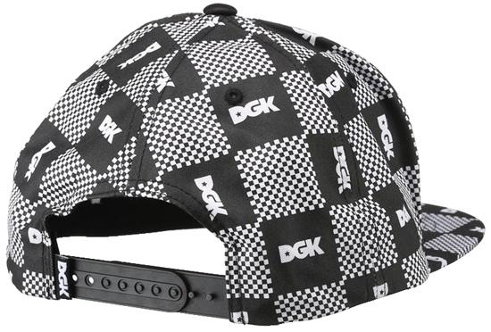 Boné Snapback DGK Preto/Branco Mini Logos