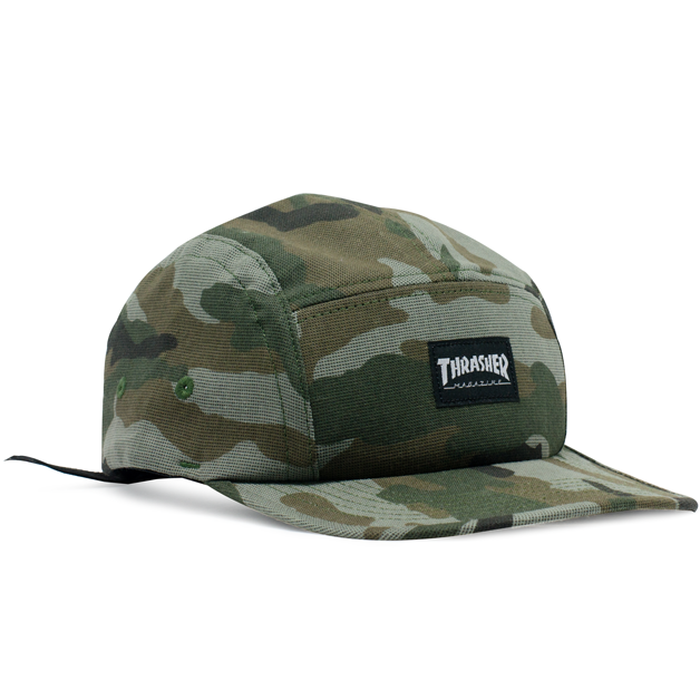 Boné Thrasher Five Panel Mag Logo Camuflado