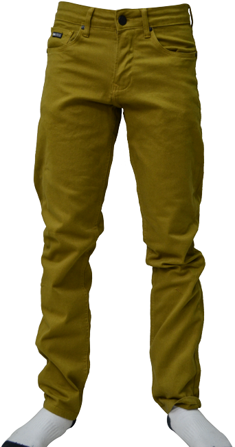 Calça Sarja Qix Mostarda (Slim)