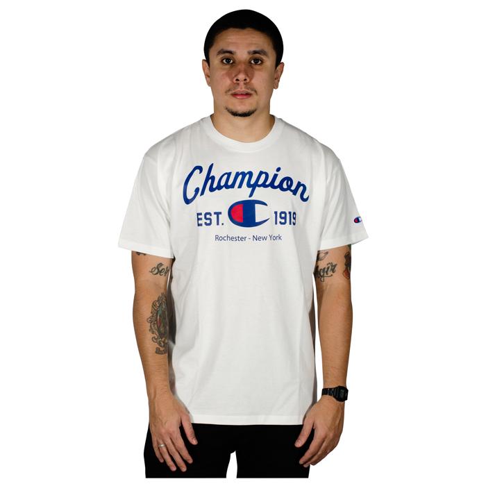 Camisa Champion 5 OZ C Logo INK Branca GT23B Y08047B
