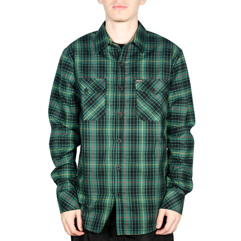 78d5c0ea8 Camisa Child Flanela Xadrez Hunter Verde