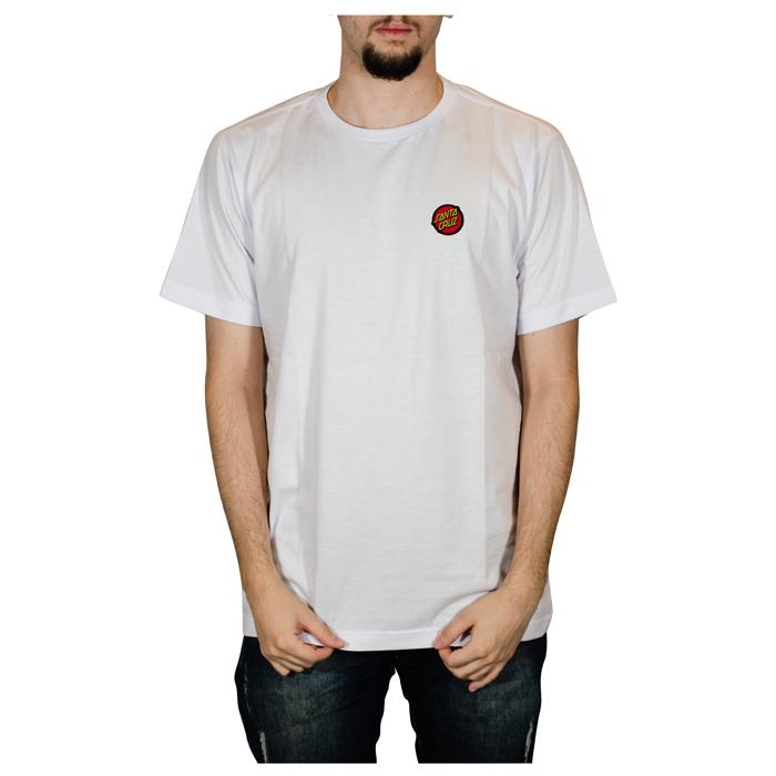 Camisa Santa Cruz Classic Dot Chest Branca 50200510