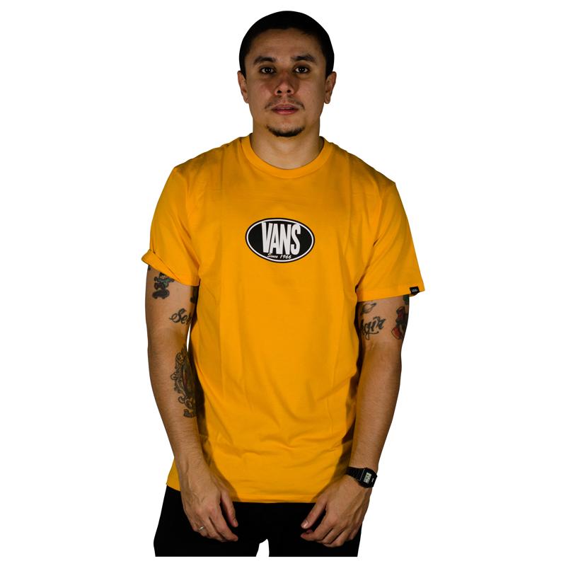 Camisa Vans Retro Oval SS Amarela