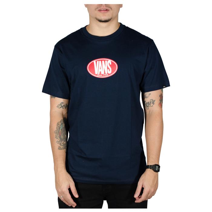 Camisa Vans Retro Oval SS Azul Marinho
