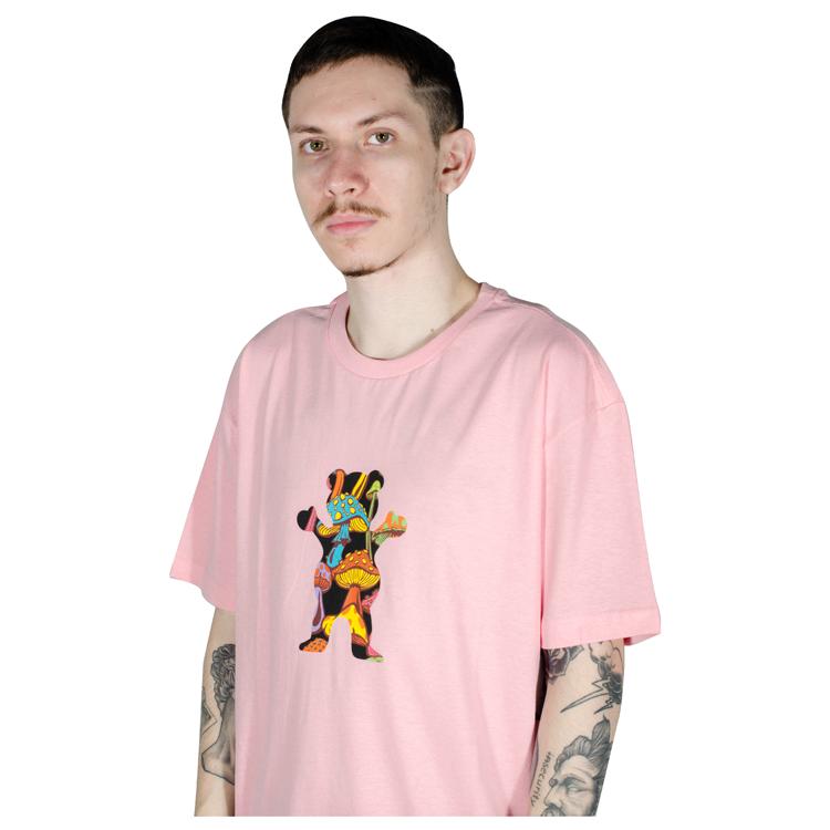 Camiseta Big Grizzly Fungi OG Bear Rosa