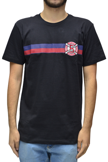 Camiseta Blaze Patch Stripes Preto