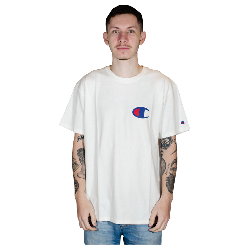 Camiseta Champion C Logo INK 5 OZ Branca GT23B Y06591B