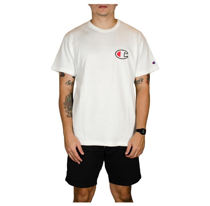 Camiseta Champion C Patch Felt Malhão- Branca  GT220B Y06830B