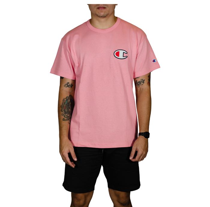 Camiseta Champion C Patch Felt Malhão- Rosa  GT220B Y06830B