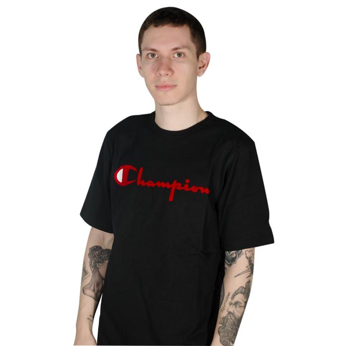 Camiseta Champion Flock 90S Preta