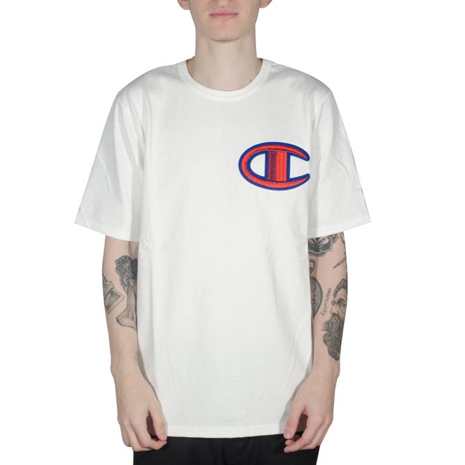 Camiseta Champion Heritage Floss Stitch Branca