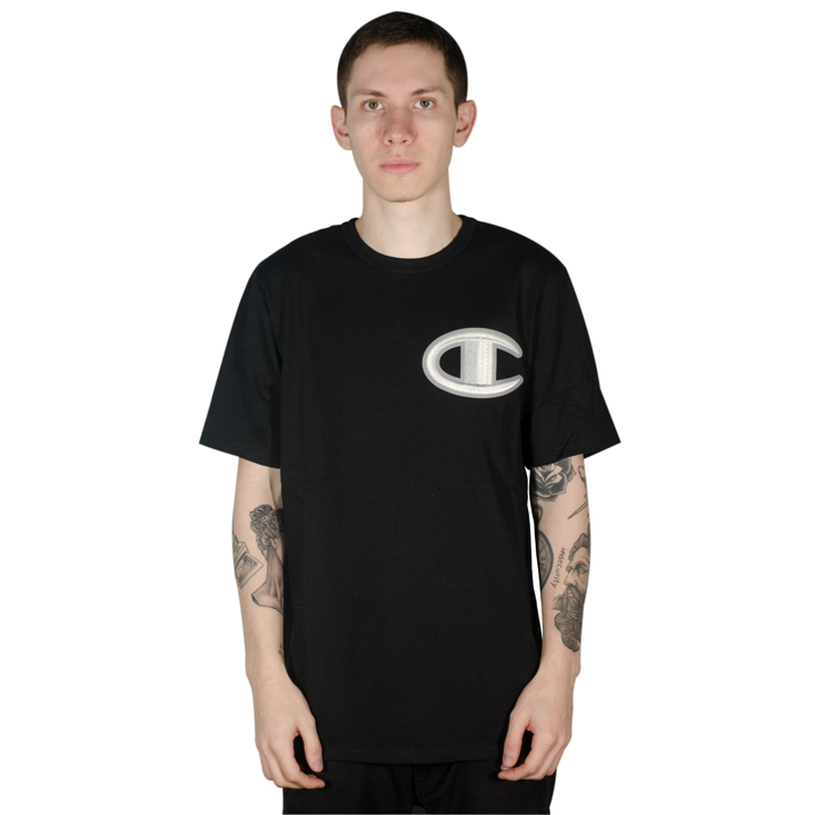 Camiseta Champion Heritage Floss Stitch Preta