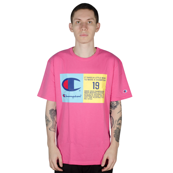 Camiseta Champion Heritage Graphic Tee Rosa
