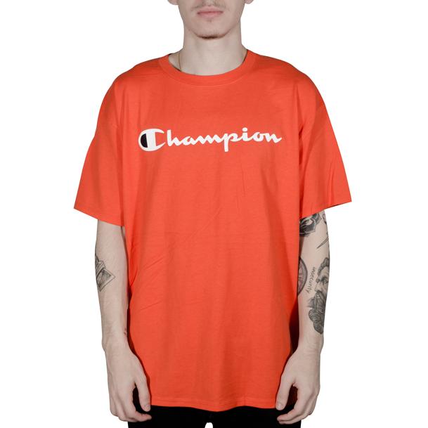 veel modieus te koop prijs verlaagd Camiseta Champion Logo Silk Manuscrito Laranja