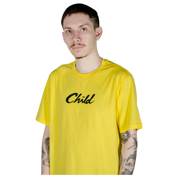 Camiseta Child Font Amarela