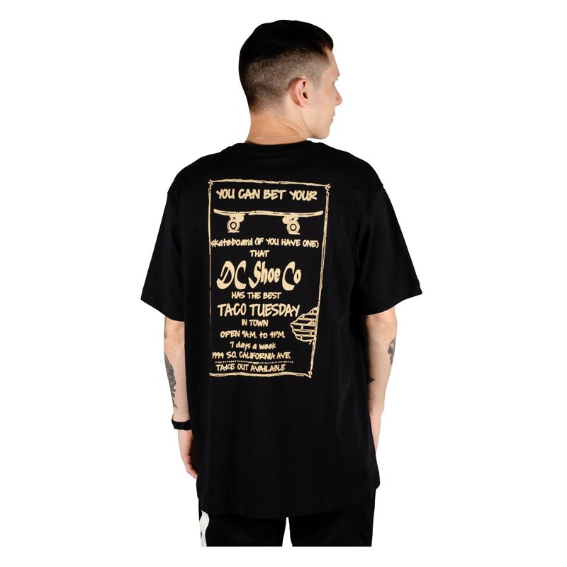 Camiseta Dc Shoes Taco Tuesday Preta