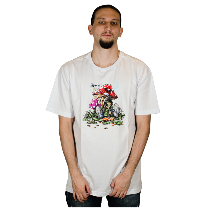 Camiseta DGK Loungin Tee - Branca PTM-2193