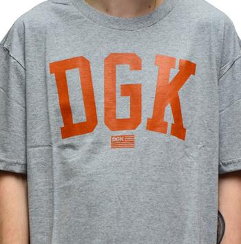 Camiseta DGK Past Time Mescla Cinza