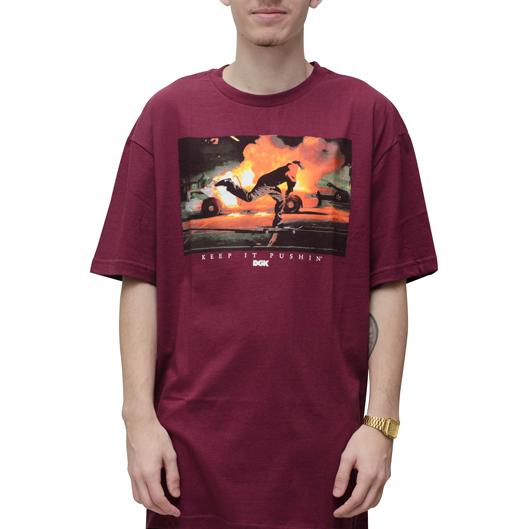 Camiseta DGK Pushin Bordo