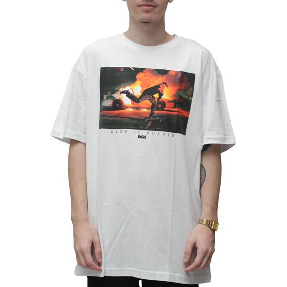 Camiseta DGK Pushin Branca