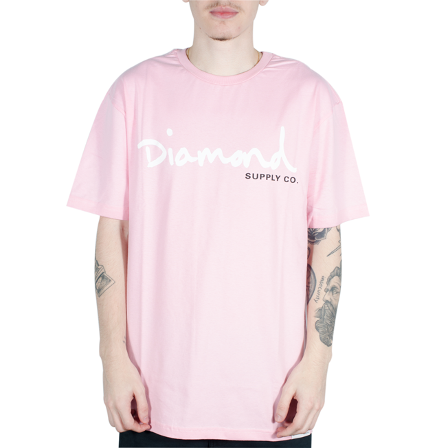 Camiseta Diamond BIG Og Script Tee Rosa